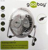 goobay - Desktop Ventitlator - USB Anschluss - sorgt für frischen Wind auf dem Schreibtisch