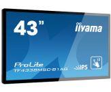 "Iiyama ProLite TF4338MSC-B1AG 109.2 cm (43"") Klasse (107.9 cm (42.5"") sichtbar) mit Touchscreen (Multi-Touch) kapazitiv - 1080p (Full HD)"
