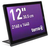"TERRA PAD 1270 128GB 4G Schwarz Tablet 4.096 MB - 2,6 GHz - 128 GB - 12"" - 2.160*1.440"