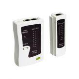Goobay - Netzwerkkabel-Tester - für RJ11, RJ12 + RJ45 - Kabel - Cat.5/Cat.6, ISDN - ohne 9V Batterie