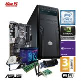 ACom i3 Highspeed Business PC - Win 10 Pro - i3-8100 - 8 GB RAM - 512 GB SSD M.2 (NVMe) + 1 TB HD 24/7 - DVD-Brenner - GT 1030 2 GB - WLAN - 400 Watt