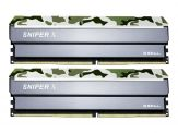 G.Skill SNIPER X - DDR4 - 32 GB: 2 x 16 GB - DIMM 288-PIN - 2400 MHz / PC4-19200 - CL17 - 1.2 V - ungepuffert - nicht-ECC - Classic Camo (Tarnmuster)