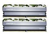 G.Skill SNIPER X - DDR4 - 16 GB: 2 x 8 GB - DIMM 288-PIN - 2400 MHz / PC4-19200 - CL17 - 1.2 V - ungepuffert - nicht-ECC - Classic Camo (Tarnmuster)