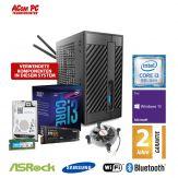 ACom Micro PC G8 - STX - Windows 10 Pro - Intel Core i3-8100 / 4x 3.6 GHz - 8 GB RAM - 250 GB SSD M.2 NVMe + 500 GB HDD - WLAN, Bluetooth