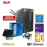 ACom Micro PC G8 - STX - Windows 10 Pro - Intel Pentium Gold G5400 / 3.7 GHz - 8 GB RAM - 240 GB SSD - WLAN, Bluetooth - VGA, HDMI, DP