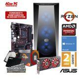 ACom Angebot des Monats Gaming AMD Ryzen 3-570 - Win 10 - AMD Ryzen 3 2200G - 8 GB RAM - 240 GB SSD + 2 TB HDD - Radeon RX 570 8 GB
