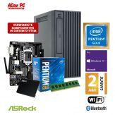 ACom Business Micro PC 100 2018 - Win 10 Pro - Intel Pentium Gold 5400 - 8 GB RAM - 240 GB SSD - DVD-Brenner - HD Graphics 610 - WLAN - Bluetooth