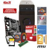 ACom Gaming AMD Ryzen 5 - Win 10 - AMD Ryzen 5 2400G - 8 GB RAM - 240 GB SSD M.2 + 1 TB HDD - DVD-Brenner - Radeon RX Vega 11 -  Internet Security