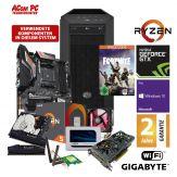 ACom Ultra Gamer AMD Ryzen 5-1060 - Win 10 Pro - AMD Ryzen 5 2600X - 16 GB RAM - 500 GB SSD + 2 TB HDD - DVD-Brenner - GF GTX 1060 - WLAN
