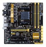 ASUS A88XM-PLUS - Motherboard - Mikro-ATX - Socket FM2+ - AMD A88X - USB 3.0 - Gigabit LAN - Onboard-Grafik (CPU erforderlich) - HD Audio (8-Kanal)