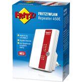 AVM FRITZ!WLAN Repeater 450E - Wireless Range Extender - 10Mb LAN, 100Mb LAN, Gigabit LAN - 802.11 b/g/n