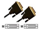 DVI-Kabel - AVC 130-7.5 - Dreifachisolierung - Schwarz - 7.5 m
