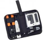 Equip Netzwerk Etui -RJ45- 1x Anlegewerkzeug, 1x LAN Tester, 1x Kabel Abisolierer, 1x RJ45 Crimpzange