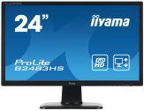 "Iiyama ProLite B2483HS-1 - Business LED-Monitor - 61 cm ( 24"" ) - 1920 x 1080 Full HD - TN - 250 cd/m2 - 5Mio:1 (d.) - 2 ms - HDMI, DVI-D, VGA - Laut."