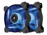 Corsair Air Series LED AF120 Quiet Edition - Gehäuselüfter - 120 mm - Blau ( Packung mit 2 )