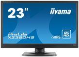 "Iiyama ProLite X2380HS-B1 - LED-Monitor - 58.4 cm ( 23"" ) - 1920 x 1080 FullHD - IPS - 250 cd/m2 - 10Mio.:1 (dyn.) - 5 ms - HDMI, DVI-D, VGA - Lautspr"