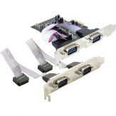 DeLock 4 x serial PCI Express Card - Serieller Adapter - PCIe - RS-232 - 4 Anschlüsse