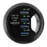 Delock In-Desk Hub - Hub - 4 x SuperSpeed USB 3.0 Desktop