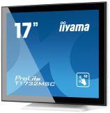 "Iiyama ProLite T1732MSC - LCD-Monitor - 43.2 cm ( 17"" ) 5:4 - Multi-Touch - 1280 x 1024 - TN - 1000:1 - 5 ms - DVI-D, VGA - Lautsprecher - Weiß"
