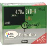 Intenso 10 x DVD-R ( G ) - 4.7 GB ( 120 Min. ) 16x - Slim Jewel Case - Speichermedium