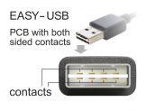DeLOCK EASY-USB - USB-Kabel - USB Typ A, 4-polig (M) - 5-polig Micro-USB Typ B (M) - 5m ( USB/USB 2.0 ) - Schwarz