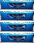 G.Skill Ripjaws 4 Series - DDR4 - 32 GB : 4 x 8 GB - DIMM 288-PIN - 2400 MHz / PC4-19200 - CL15 - 1.2 V - ungepuffert - nicht-ECC - Blau