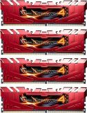 G.Skill Ripjaws 4 Series - DDR4 - 32 GB : 4 x 8 GB - DIMM 288-PIN - 2666 MHz / PC4-21300 - CL15 - 1.2 V - ungepuffert - nicht-ECC - Rot