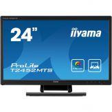 "Iiyama ProLite T2452MTS-B4 - LED-Monitor - 61 cm ( 24"" ) - Multi-Touch - 1920 x 1080 FullHD - TN - 260 cd/m2 - 5 mio:1 (dyn.) - 2 ms -HDMI, DVI-D, VGA"