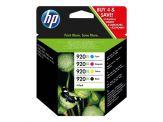 HP 920XL - C2N92AE - 4er-Pack - Hohe Ergiebigkeit - Farbe (Cyan, Magenta, Gelb, Schwarz) - Original - Tintenpatrone