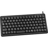 CHERRY Compact-Keyboard G84-4100 - Tastatur - PS/2, USB - Deutsch - Schwarz