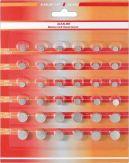 Knopfzellen Set Alkaline (1,5V) | 36 Stk. auf einer Blisterkarte - LR621 - LR41 - LR626 - LR754 - LR43 - LR44
