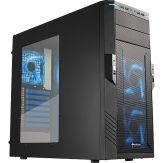 Sharkoon T28 - Blue Edition - Midi Tower - ATX - ohne Netzteil - Schwarz, USB 3.0/Audio