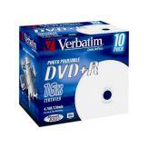 Verbatim DataLifePlus - 10 x DVD+R - 4.7 GB 16x - mit Tintenstrahldrucker bedruckbare Oberfläche - Jewel Case (Schachtel)