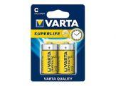 Varta Superlife 2014 - Batterie 2 x C Kohlenstoff Zink 1,5 V - Zink-Kohle - Blisterverpackung