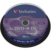 Verbatim - 10 x DVD+R DL - 8.5 GB 8x - mattes Silber - Spindel