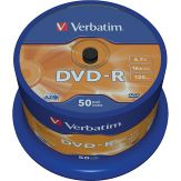 Verbatim - 50 x DVD-R - 4.7 GB 16x - mattes Silber - Spindel