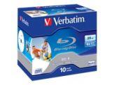 Verbatim - 10 x BD-R - 25 GB 6x - bedruckbare Oberfläche - Jewel Case (Schachtel)