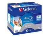 Verbatim - 10 x BD-R DL - 50 GB 6x - mit Tintenstrahldrucker bedruckbare Oberfläche - Jewel Case (Schachtel)