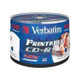 Verbatim DataLifePlus 43438 - 50 x CD-R - 700 MB 52x - breite bedruckbare Oberfläche - Spindel