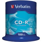 Verbatim - 100 x CD-R - 700 MB ( 80 Min ) 52x - Spindel