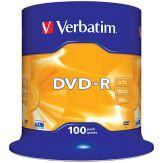 Verbatim - 100 x DVD-R - 4.7 GB 16x - mattes Silber - Spindel