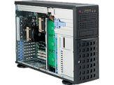 Supermicro SC745 TQ-R1200B - Tower - 4U - Erweitertes ATX - SATA/SAS - Hot-Swap 1200 Watt - Schwarz - USB
