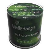 MediaRange - 100 x DVD-R - 4.7 GB 16x - Spindel