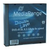 MediaRange - 5 x DVD+R DL - 8.5 GB 8x - Slim Jewel Case