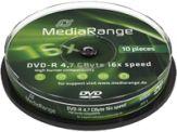 MediaRange - 10 x DVD-R - 4.7 GB 16x - Spindel