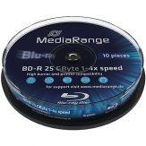 MediaRange - 10 x BD-R - 25 GB 4x - Spindel